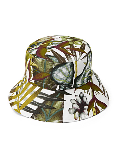 Tropical foliage hat