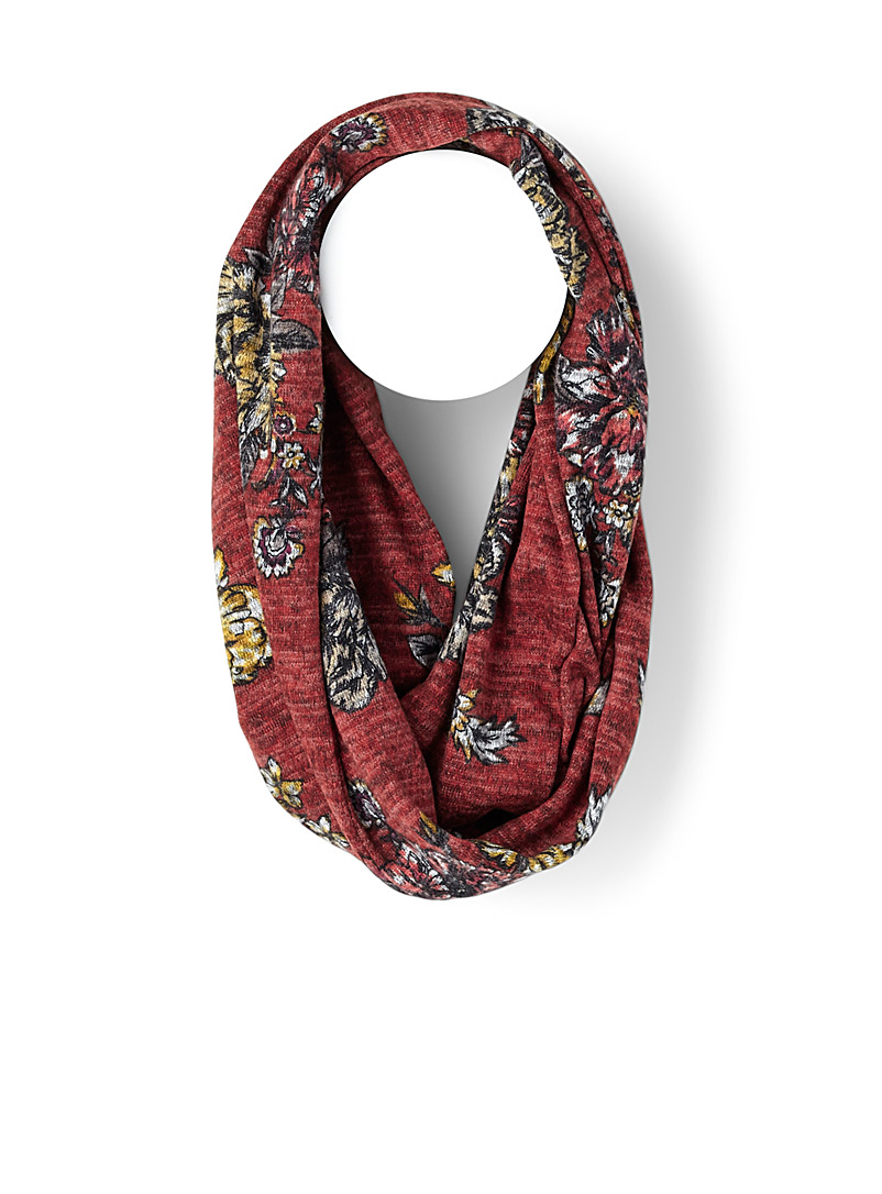 Traced flowers infinity scarf - Snoods - Patterned Orange