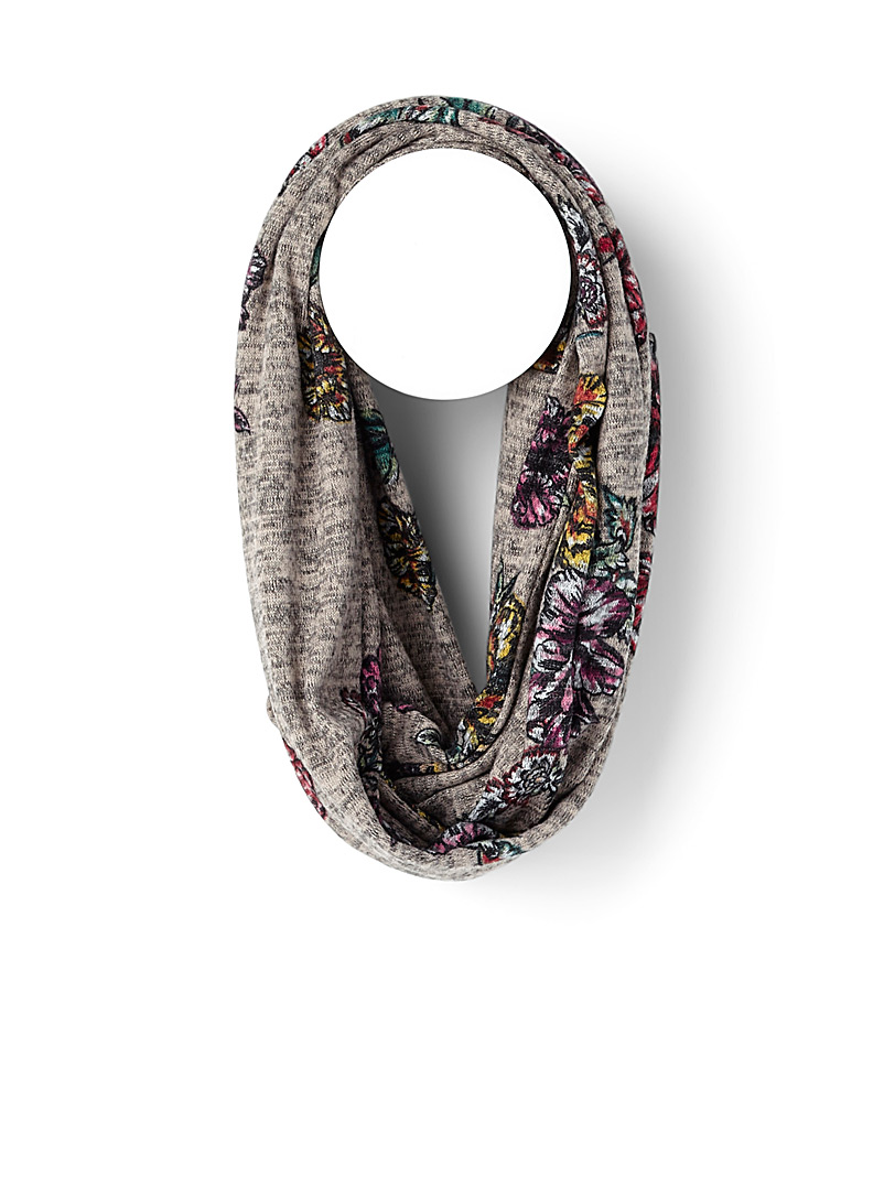 Traced flowers infinity scarf - Snoods