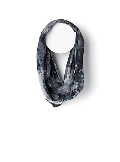Abstract painterly infinity scarf