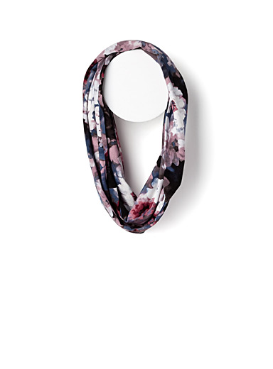 Faded flowers infinity scarf