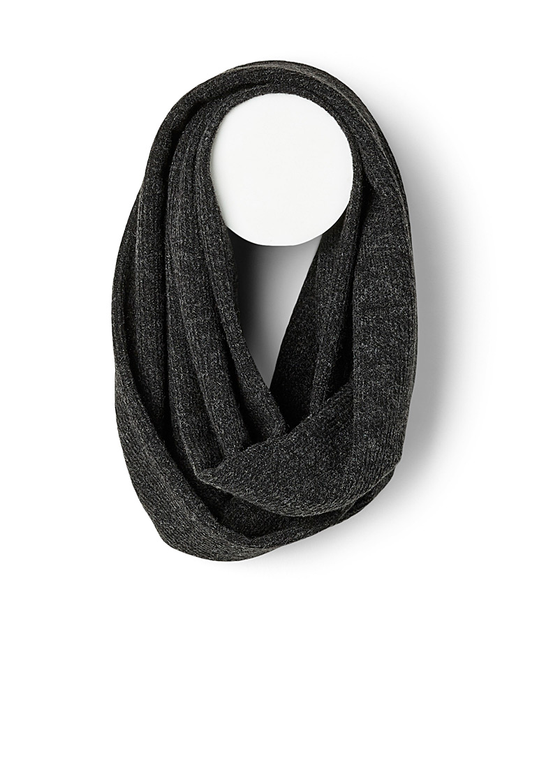 Brushed-knit infinity scarf