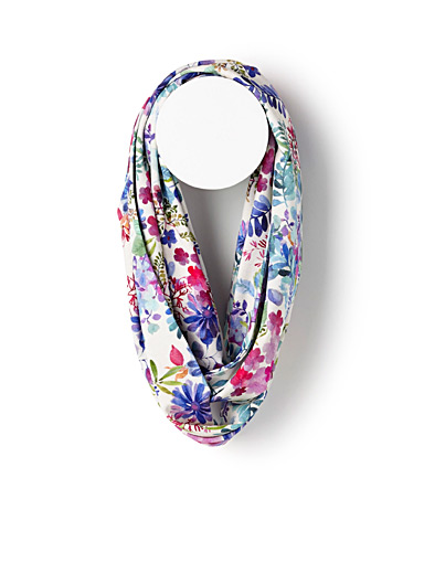 Floral watercolour infinity scarf
