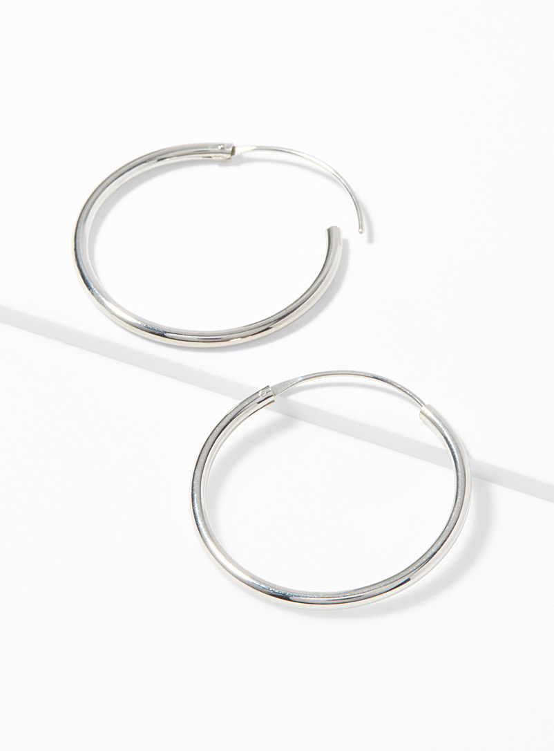Classic silver earrings - Genuine Silver - Silver