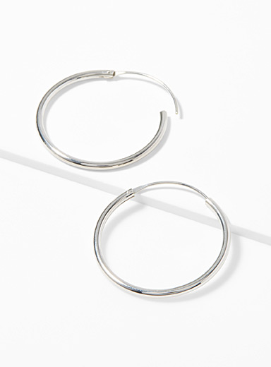 Simons Silver Classic silver earrings for women