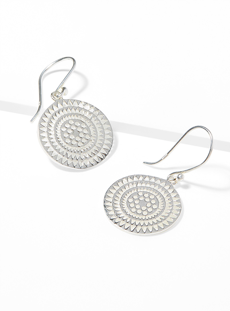 Silver mandala earrings - Earrings - Silver