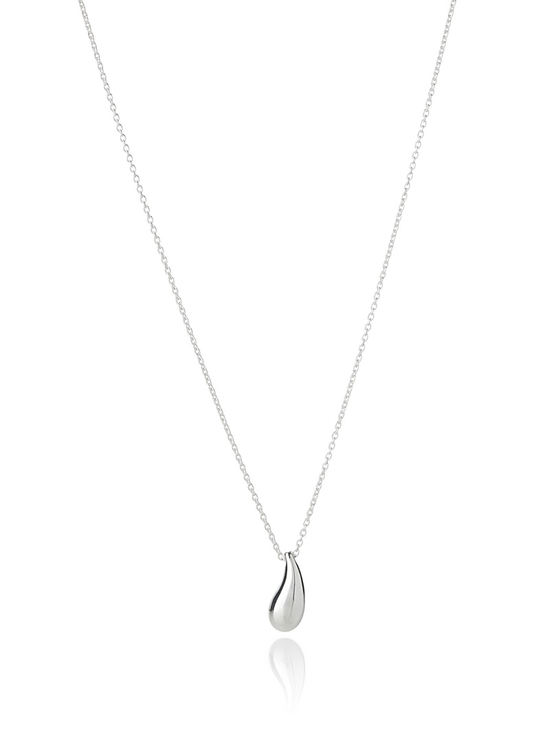 genuine-silver-teardrop-necklace