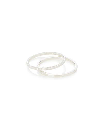 Silver rings <br>Set of 2