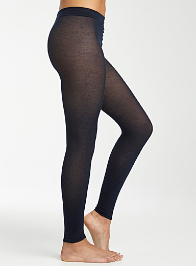 Velvety cotton legging