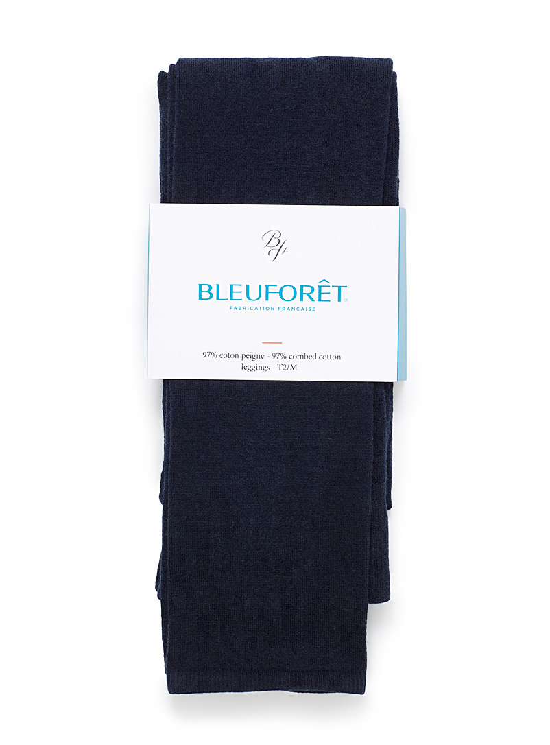 Bleuforêt Marine Blue Velvety cotton legging for women
