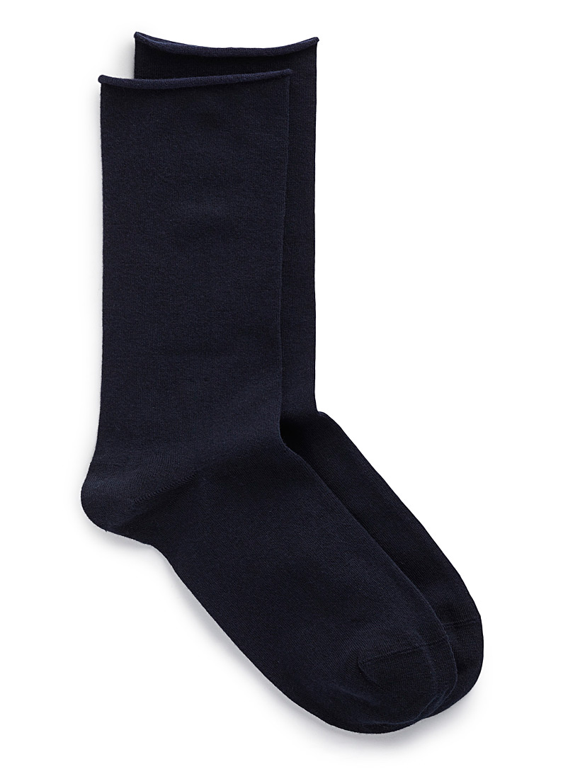 Velvety cotton socks - Socks - Marine Blue