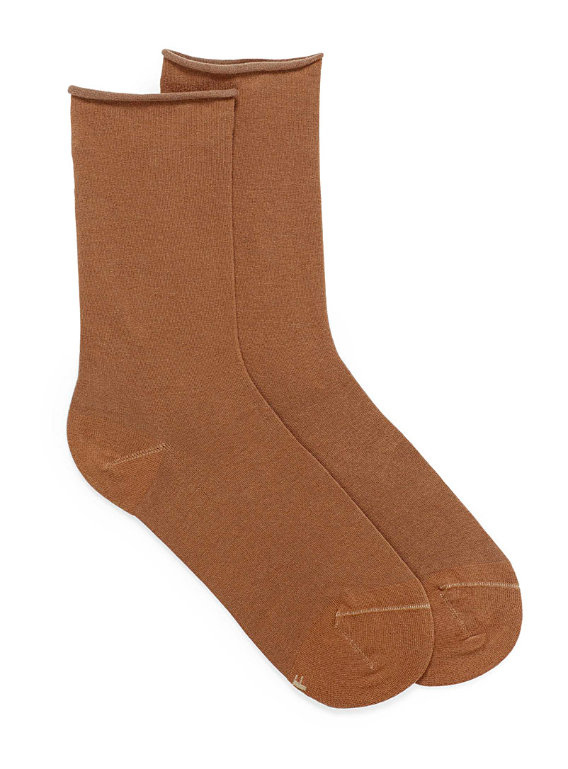 Bleuforêt Honey Combed cotton ankle socks for women