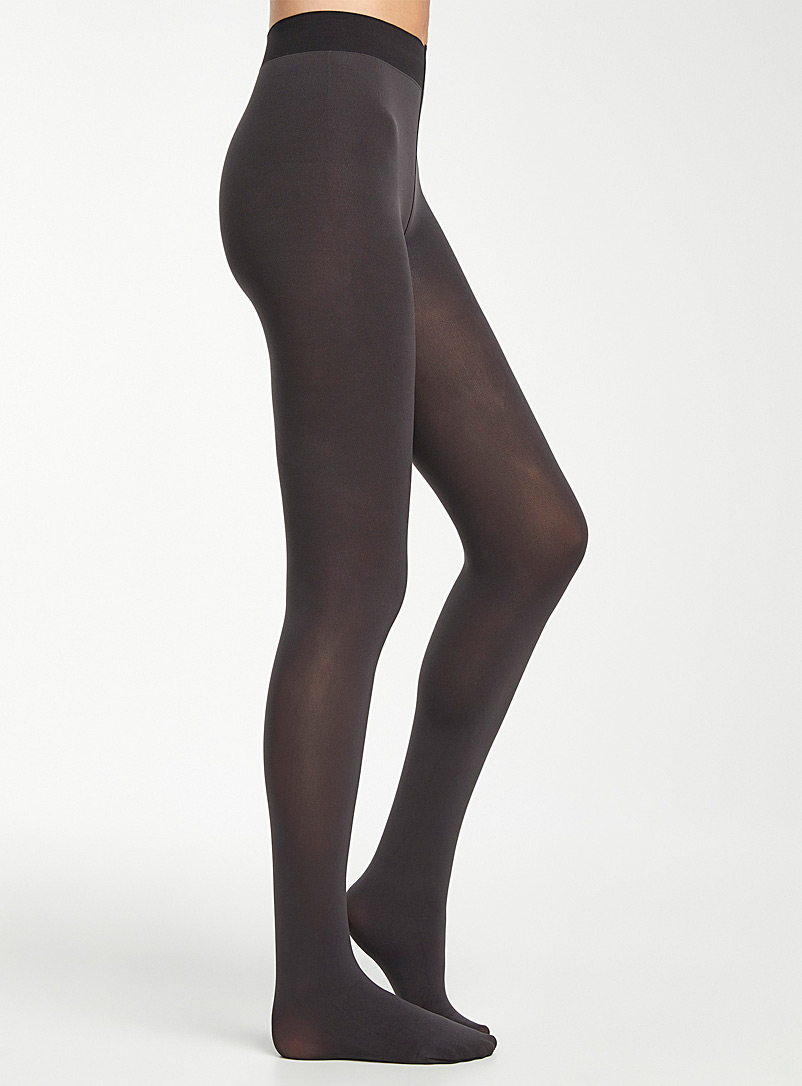 Bleuforêt Grey Ultra opaque tights for women
