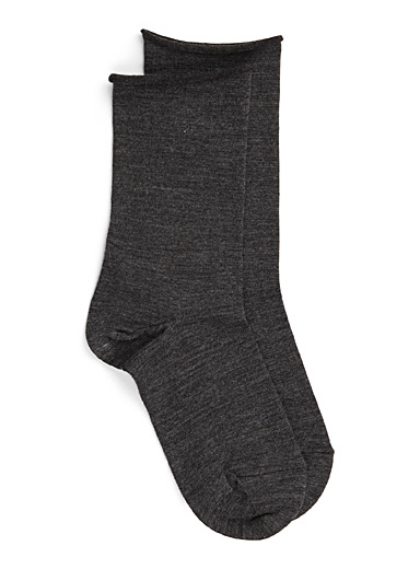 Velvety wool socks