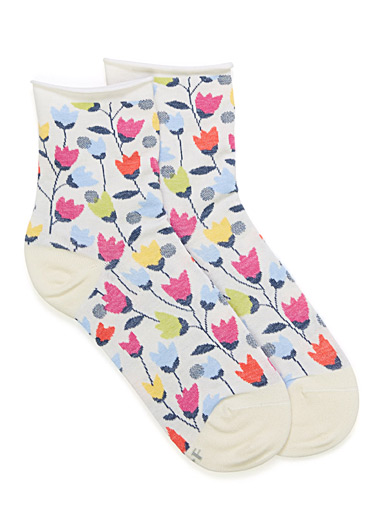 Blossoming tulip ankle socks
