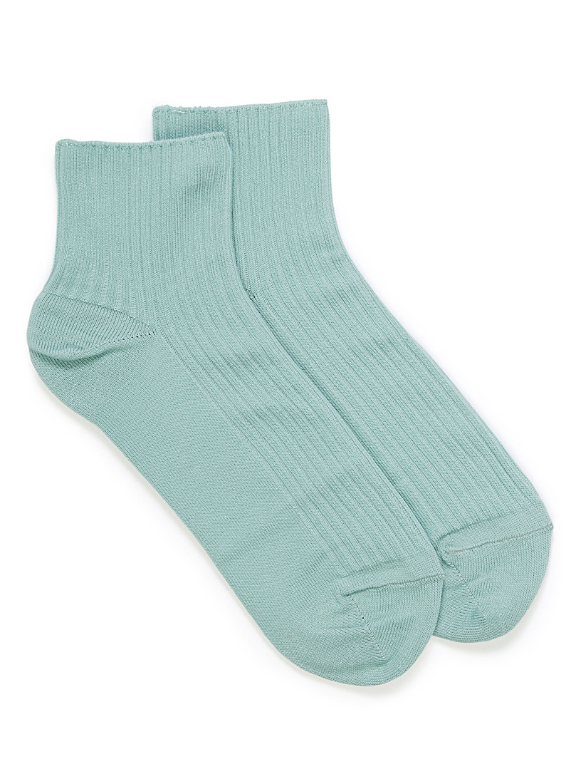 Ribbed cotton ankle socks - Socks - Lime Green