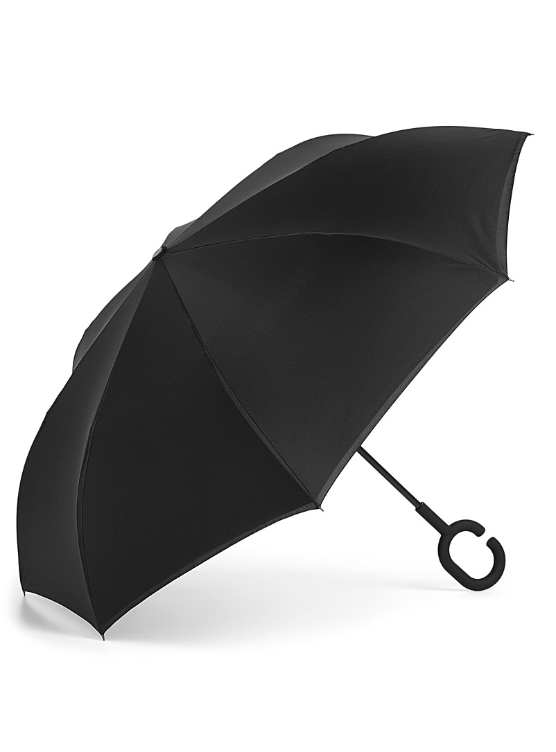 Le 31 Black Essential reverse umbrella for men