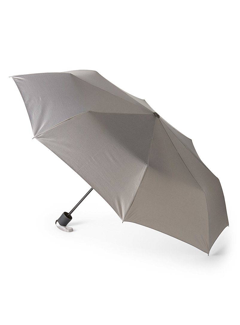 Metallic underside telescopic umbrella