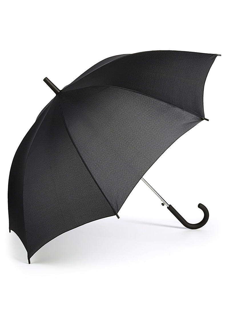 Le 31 Black Monochrome umbrella for men