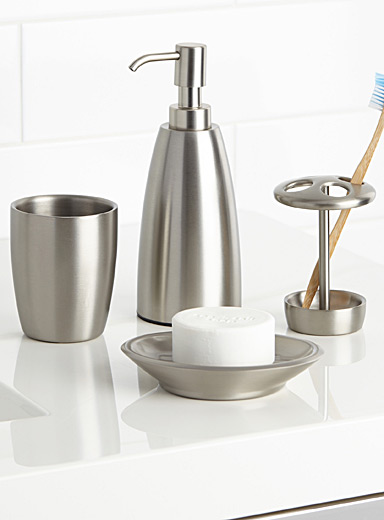 Simons Maison Assorted Brushed stainless steel accessories