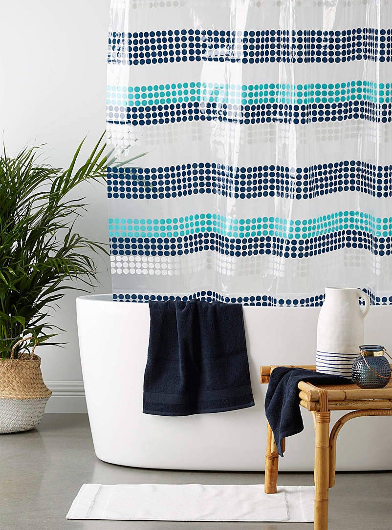 Simons Maison Patterned Blue Blue bubble PEVA shower curtain