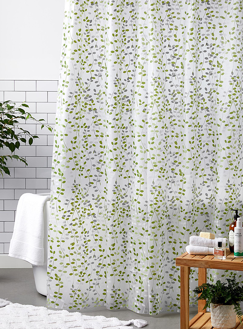 Vine PEVA shower curtain