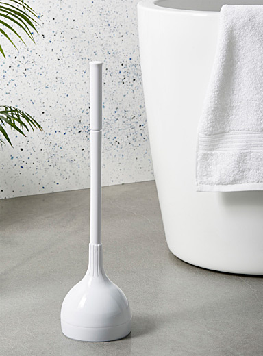 Encapsulated suction cup toilet bowl plunger