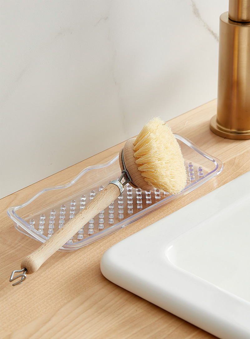 Dots and wave sink tray