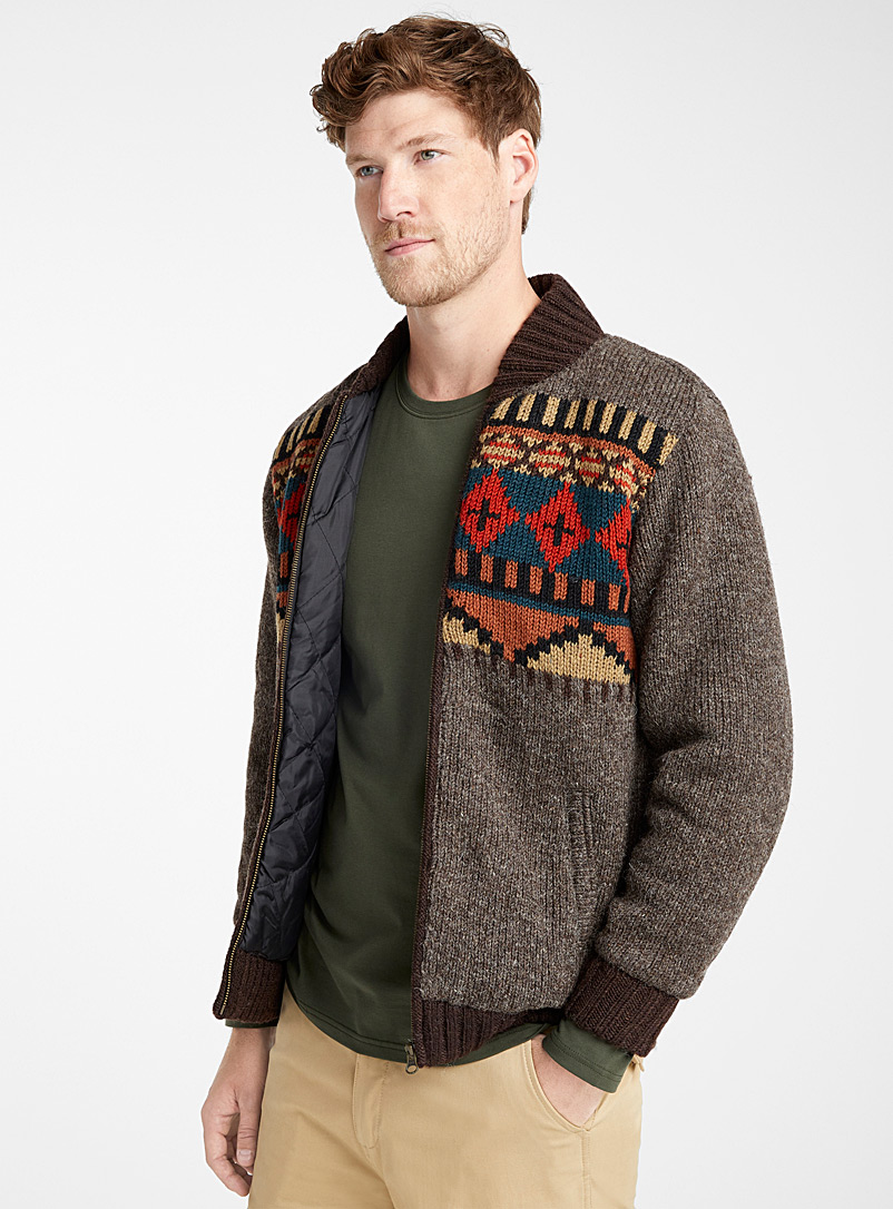 Nomad wool bomber cardigan - Sweaters & Cardigans - Brown