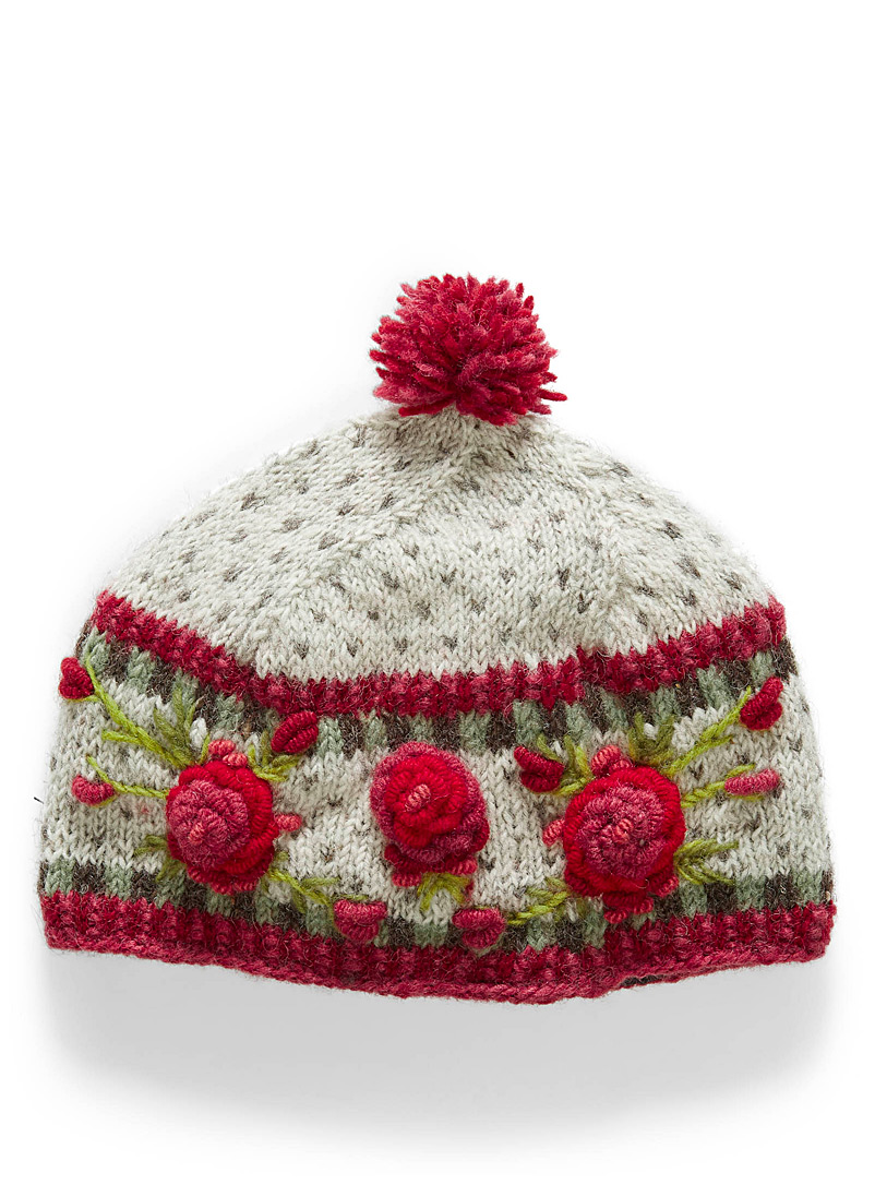 Lost Horizons Patterned White Aubrey tuque for women