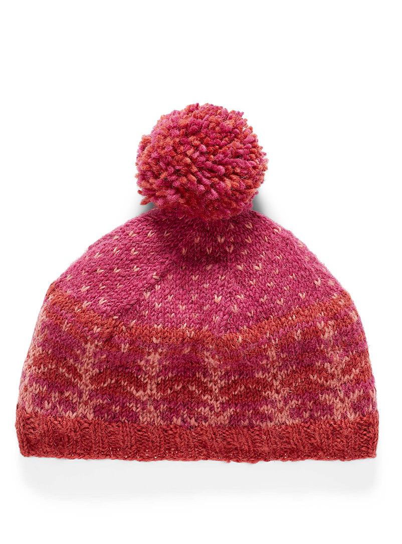 Lost Horizons Patterned Red Linnea tuque for women