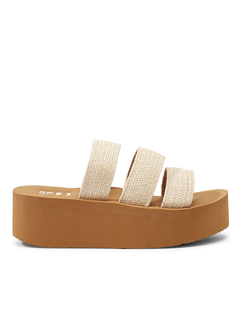 Billabong Ivory White Seabound platform sandals for women