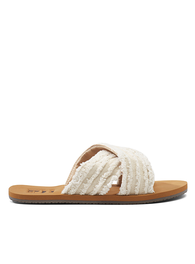 Billabong: La sandale High Sea Ivoire blanc os pour femme