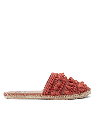 Billabong Orange Pommy summer mules for women