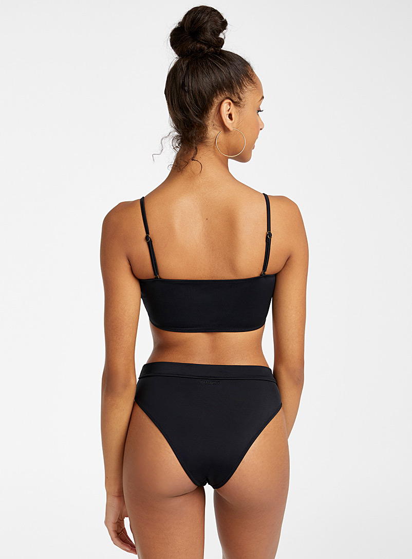 Billabong Black Recycled fibre high-waist bikini bottom for women