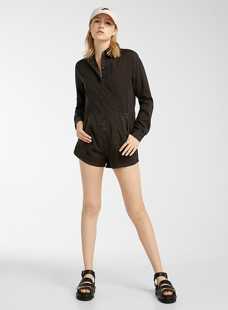 Billabong Black Faded black romper for women