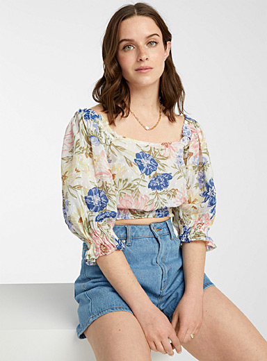 Blooming flower blouse