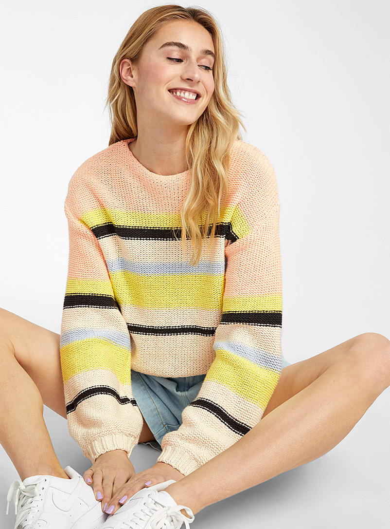 Billabong Assorted Seaside stripe sweater for women