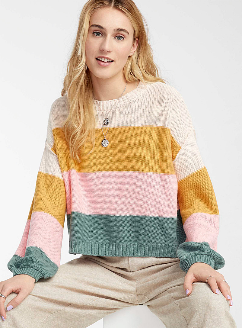 Billabong Assorted Sunset stripe sweater for women