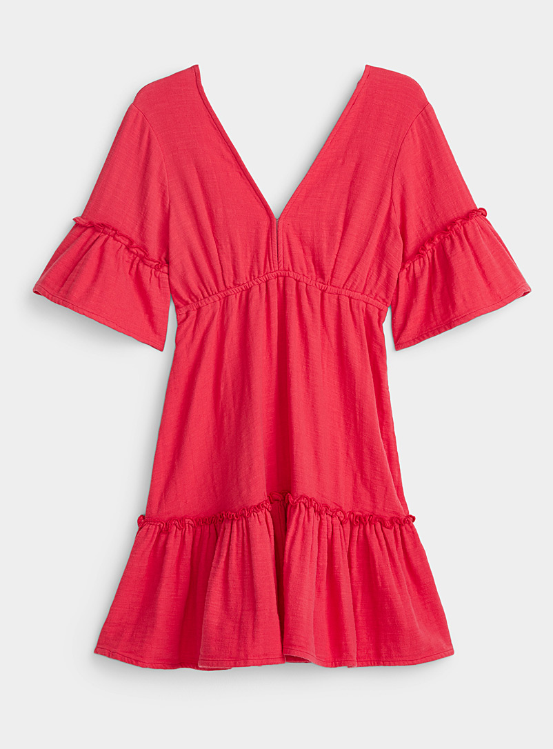Billabong Red Red flamenco dress for women