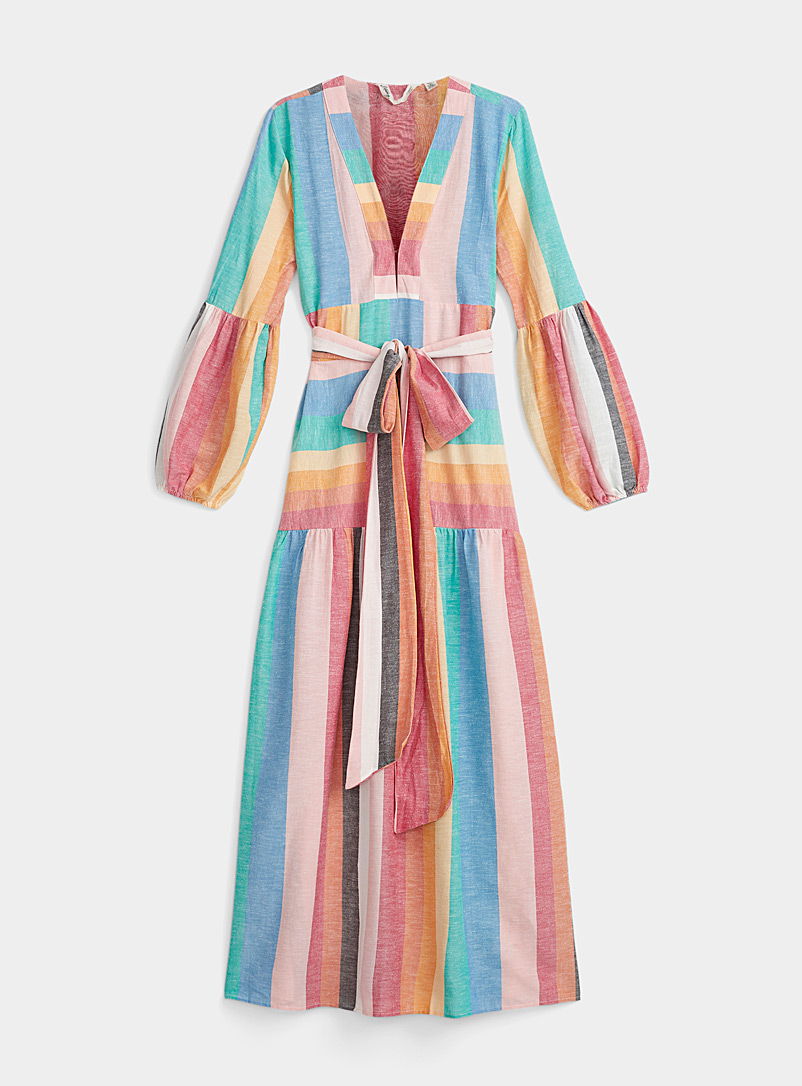 Billabong Assorted Multicolour stripe dress for women