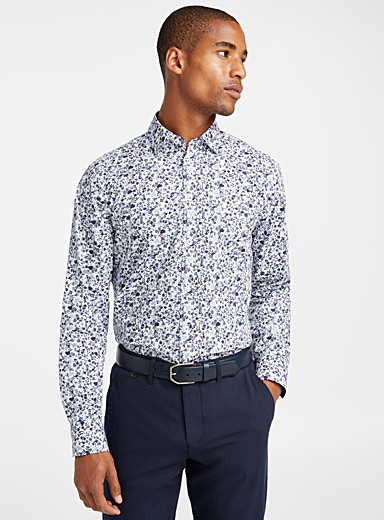 Indigo wildflower shirt  Regular fit