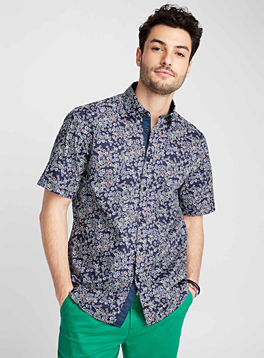 Pop accent bouquet shirt <br>Regular fit