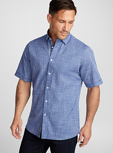 Linen-like woven shirt  Regular fit