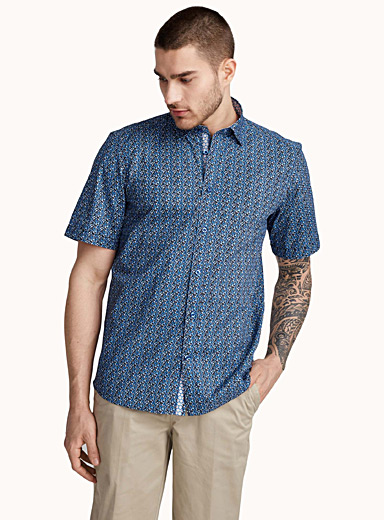 Graphic poplin shirt  Regular fit