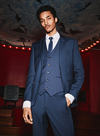 Fluid navy suit  Slim fit
