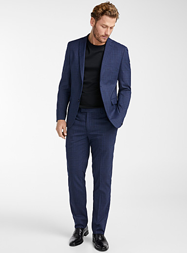 Dark check suit  Slim fit