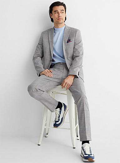 Check chambray suit Slim fit