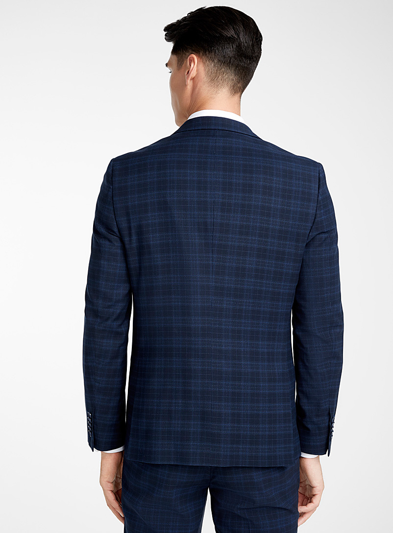 Le 31 Blue Accent blue checked suit  Slim fit for men