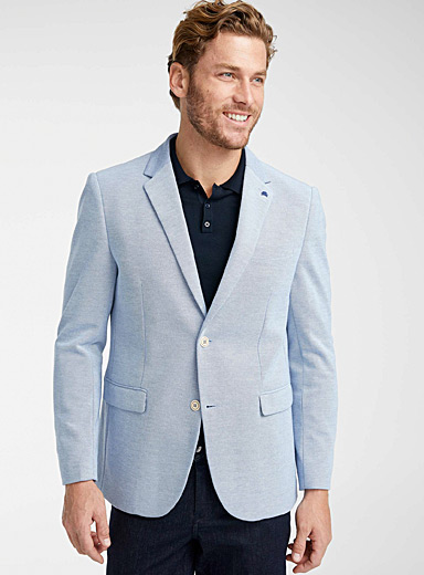 Bird's-eye textured jacket <br>Regular fit